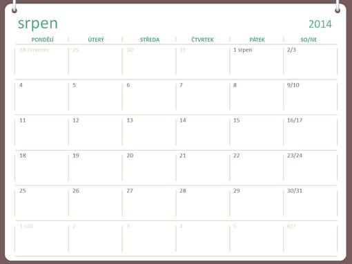 Akademický kalendář 2014–2015 (srpen–červenec)