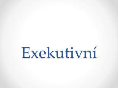 Exekutivní