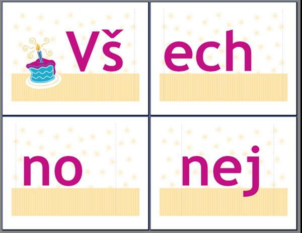 Nápis s přáním k narozeninám