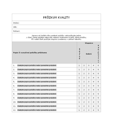 Průzkum kvality