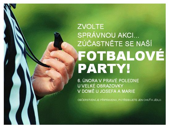 Pozvánka na fotbalovou party