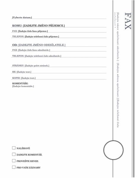 Arkýř – fax