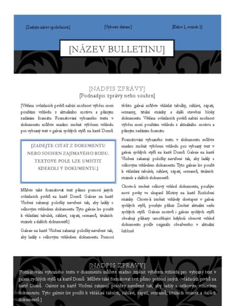 Černá kravata – bulletin