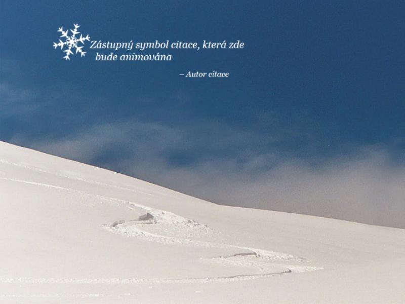 Animovaná sněhová scéna
