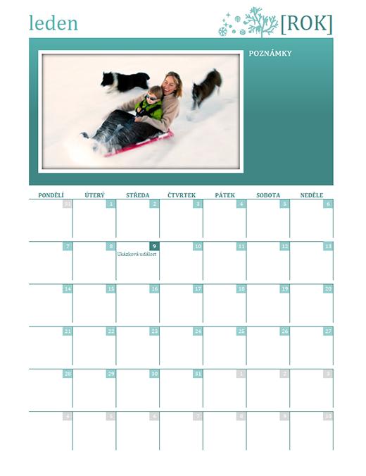 Rodinný kalendář podle období (libovolný rok, po–ne)