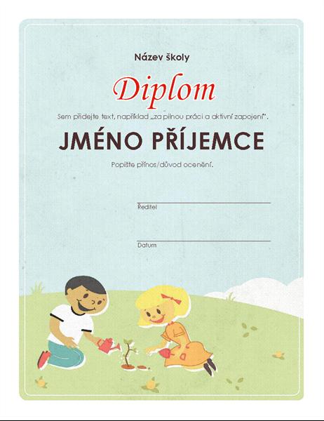 Diplom pro žáky základních škol