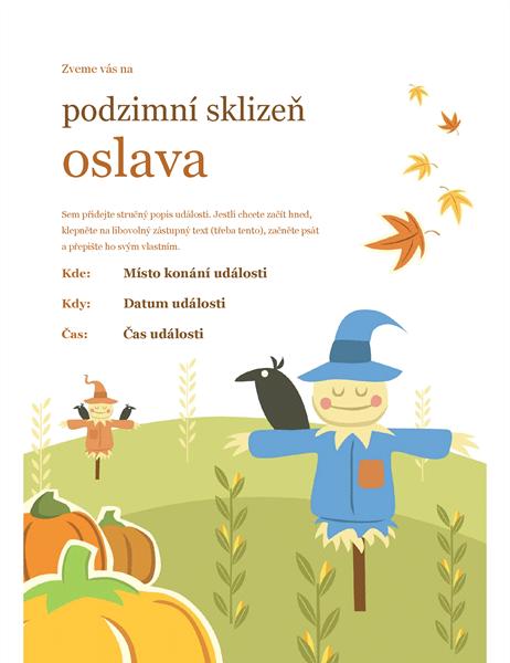 Leták s podzimním motivem
