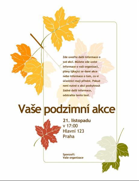 Leták na podzimní akci (s listy)
