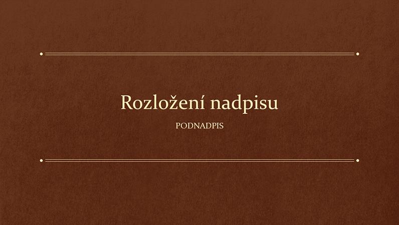 Klasická knižní vzdělávací prezentace (širokoúhlý formát)