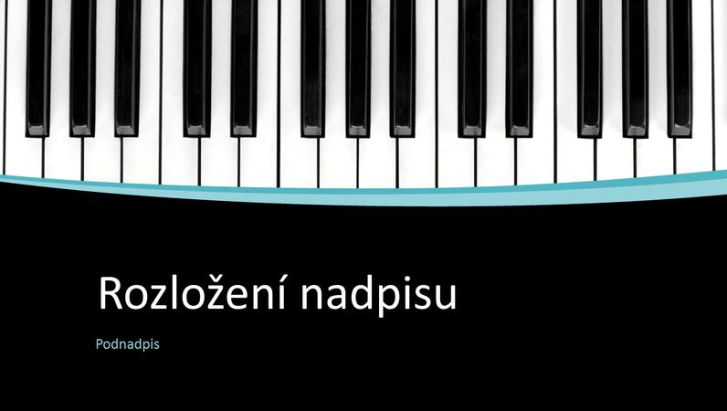 Prezentace hudebních křivek (širokoúhlá)