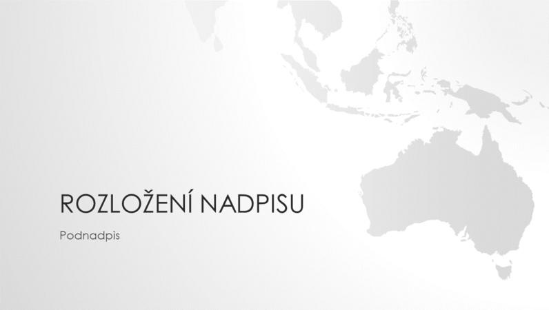 Prezentace ze série Mapy světa – australský kontinent (širokoúhlý formát)