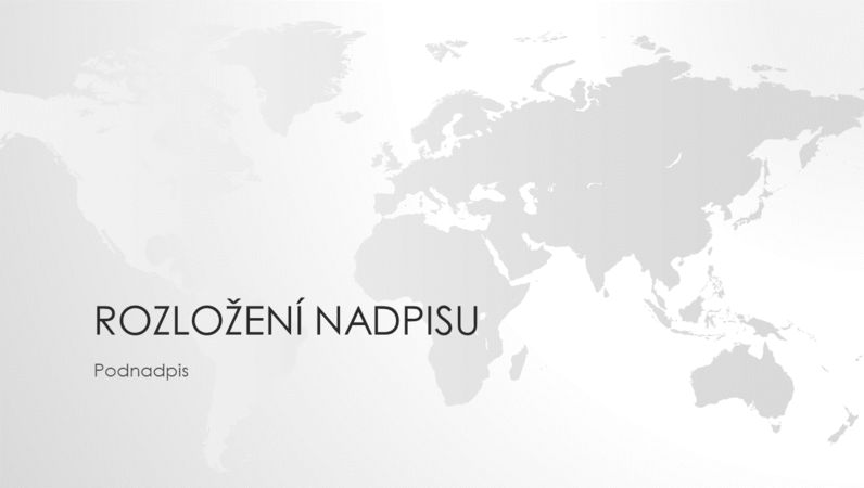 Prezentace ze série Mapy – celý svět (širokoúhlá)