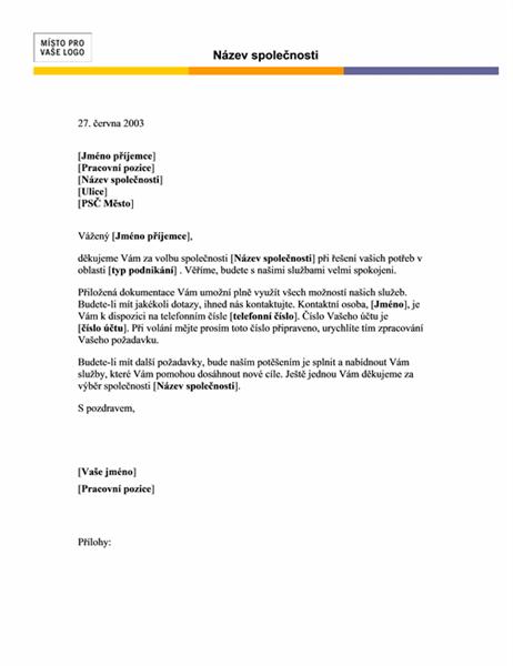 Hlavička dopisu (motiv Linky)