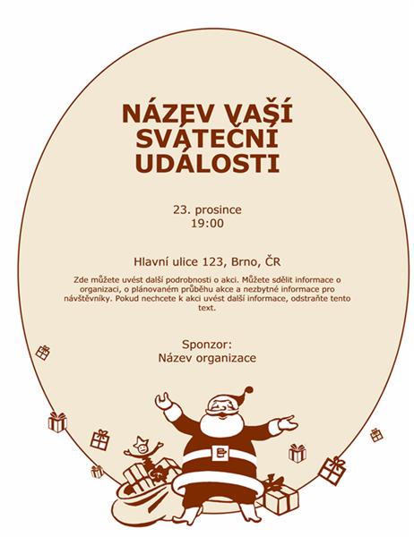 Plakát se Santa Klausem