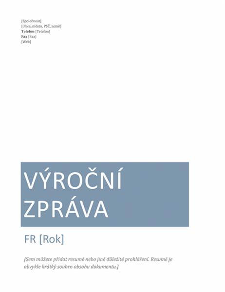 Výroční zpráva