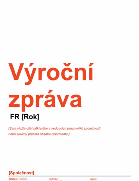 Výroční zpráva (červeno-černý návrh)