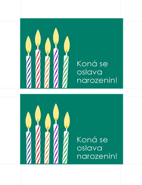 Kartička s pozvánkou na narozeniny (2 na stránku)