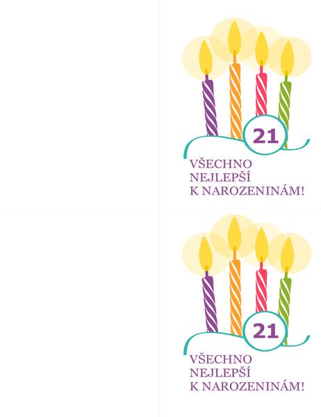 Přání k významným narozeninám (2 na stránku, pro Avery 8315)