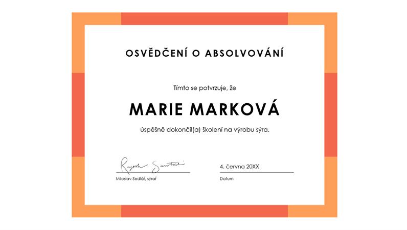 Diplom za dosažené úspěchy (modrý)