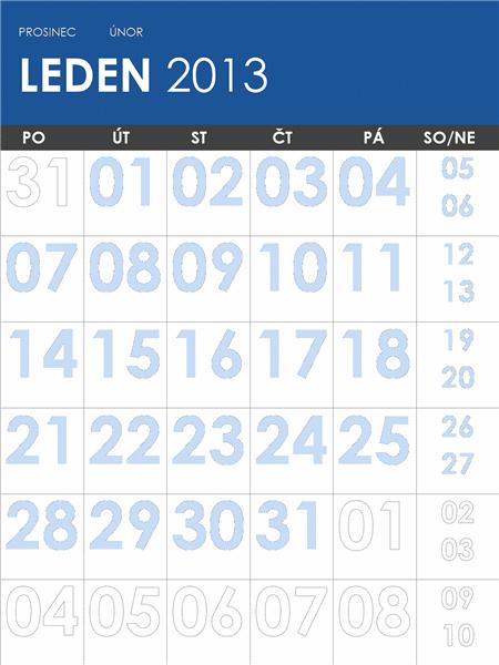 Kalendář na roky 2013-2014