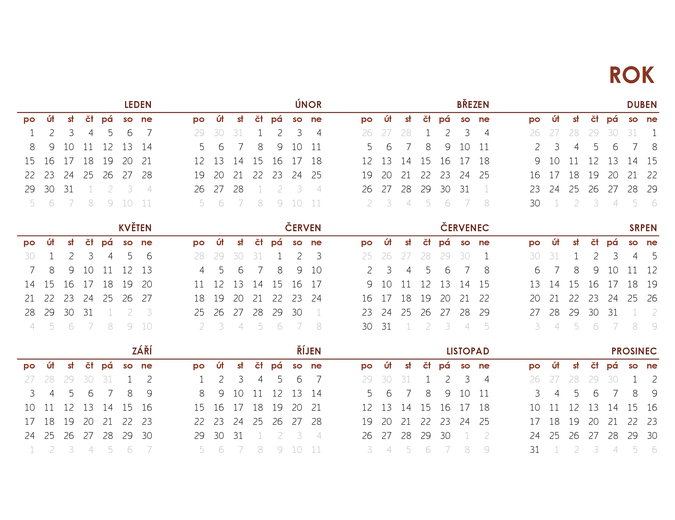 Celoroční globální kalendář