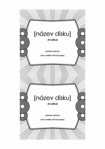 Štítek na disk CD (funguje s formátem Avery 5693)