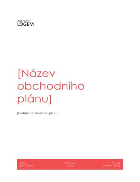 Podnikatelský plán (červený design)