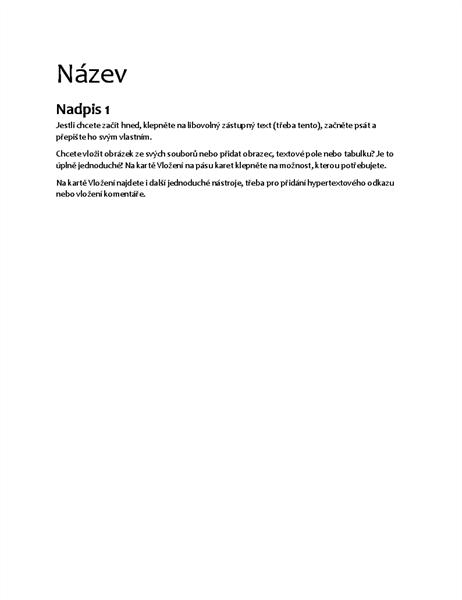 Speciální návrh (prázdný dokument)