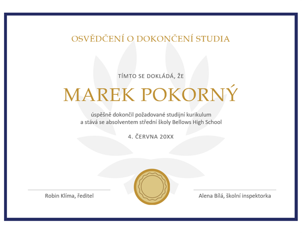 Osvědčení o diplomu