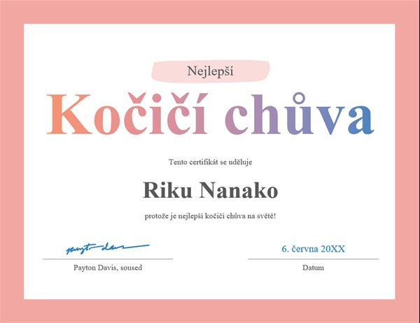 Diplom Nejlepší na světě