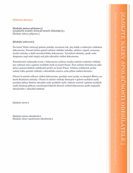 Dopis (návrh Arkýř)