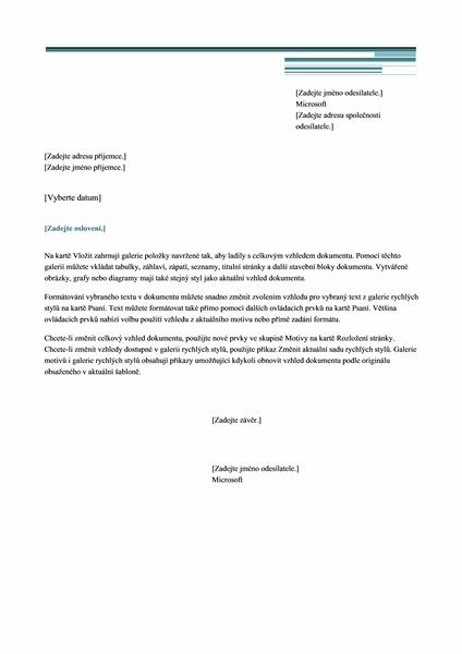 Dopis (městský návrh)
