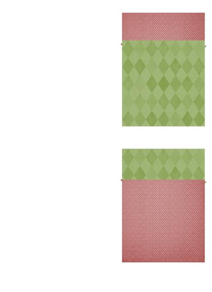 Sváteční děkovný lístek (návrh s vánoční hvězdou, přeložení na čtvrtinu)