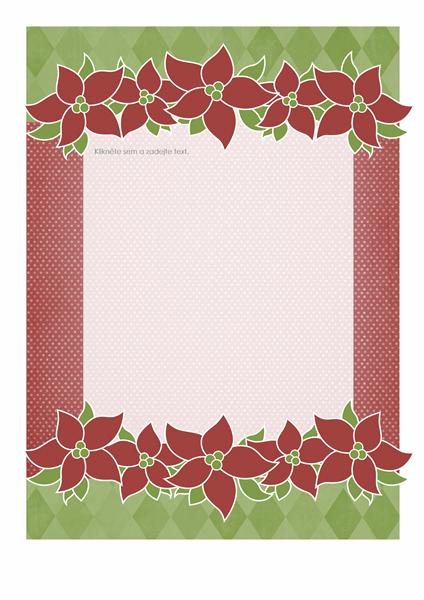 Sváteční šablona e-mailu (návrh s vánoční hvězdou)