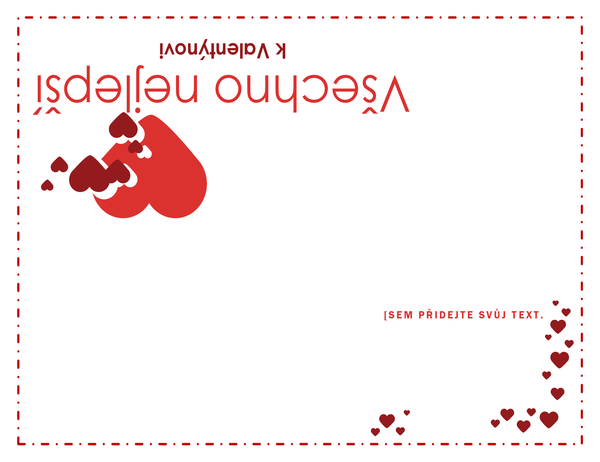 Přání ke dni sv. Valentýna (uvnitř prázdné)