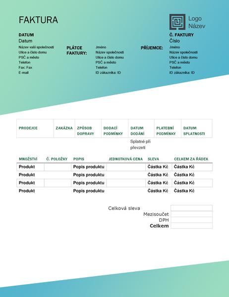 Prodejní faktura (návrh se zeleným přechodem)