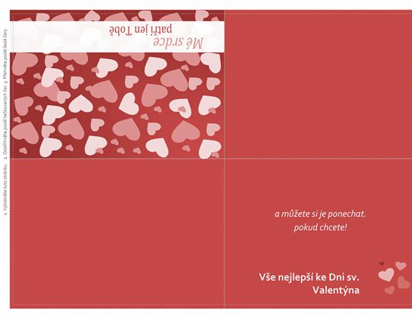 Přání ke dni sv. Valentýna (dvojité přeložení)