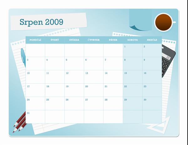 Kalendář akademického roku 2009–2010 (srpen–srpen, pondělí–neděle)