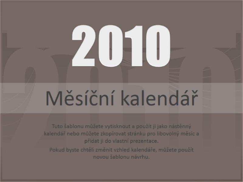 Kalendář 2010 (pondělí–neděle)