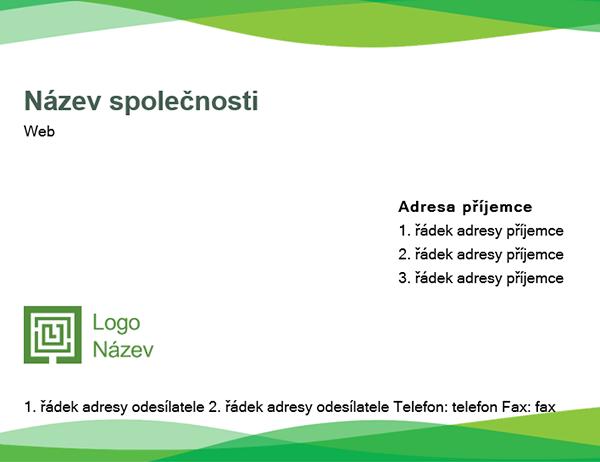Obálka (návrh se zelenou vlnou)