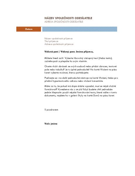 Obchodní dopis (motiv Median)