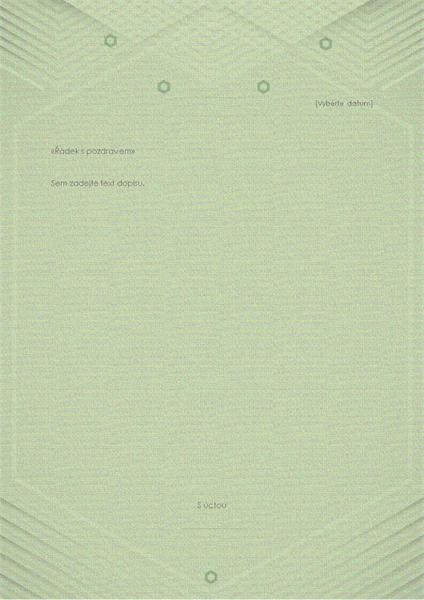 Šablona pro osobní dopisy (elegantní šedozelený design)