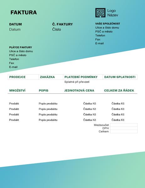 Faktura za služby (návrh se zeleným přechodem)