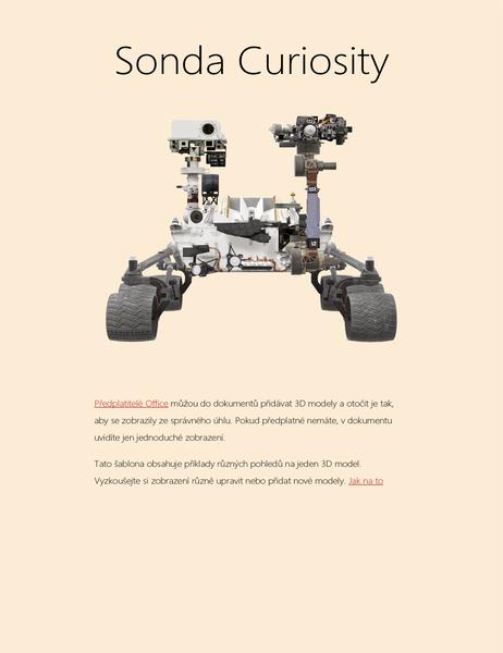 3D vědecká zpráva ve Wordu (model marsovské sondy)