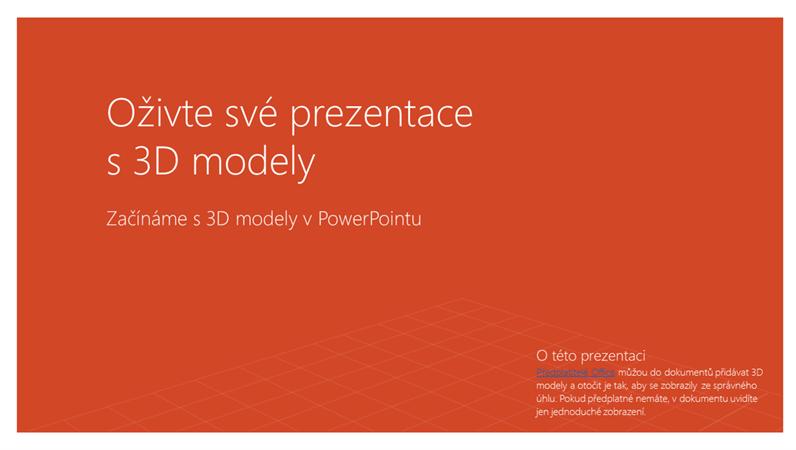 Oživte své prezentace s 3D
