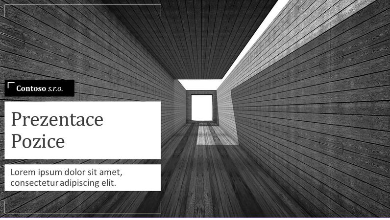 Architektonická prodejní prezentace