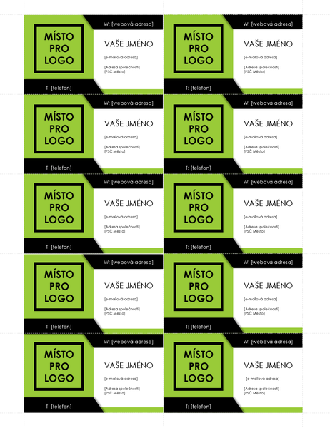 Bold logo business cards (10 per page)