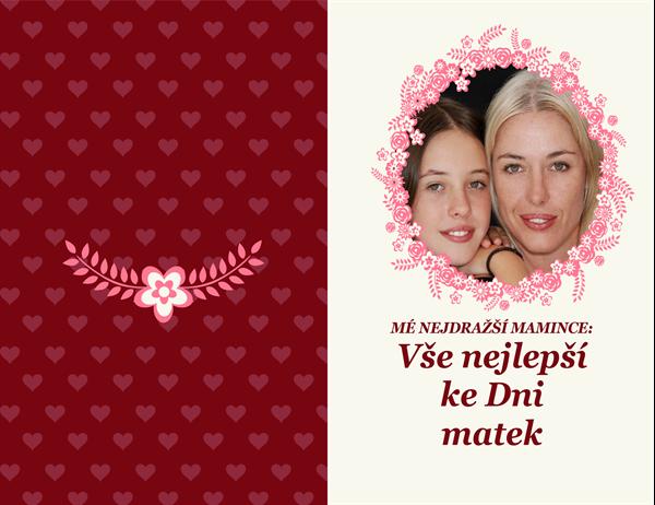Přání ke Dni matek s květinovým rámečkem