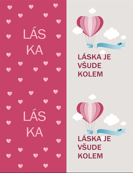 """Valentýnské přání s motivem """"Láska je všude okolo"""""""