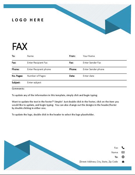 Titulní strana faxu proužky